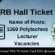 TN TRB Hall Ticket