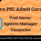 TPSC Admit Card