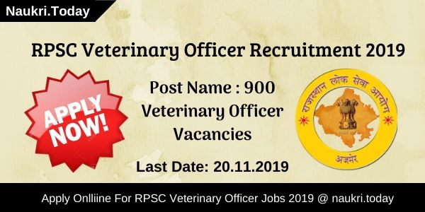 RPSC Veterinary Officer Recruitment