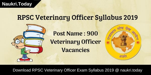 RPSC Veterinary Officer Syllabus