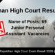 Rajasthan High Court Result