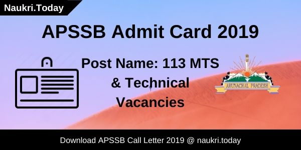 APSSB Admit Card
