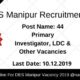 DES Manipur Recruitment 2019