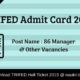TRIFED Admit Card