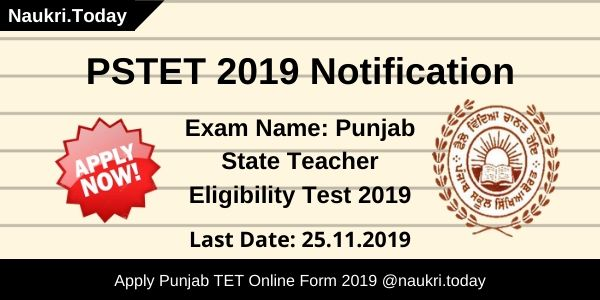 PSTET 2019 Notification