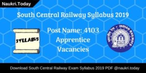 South Central Railway Syllabus