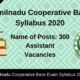 Tamilnadu Cooperative Bank Syllabus