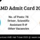 AMD Admit Card 2019