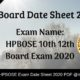 HP Board Date Sheet