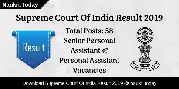 Supreme Court Of India Result