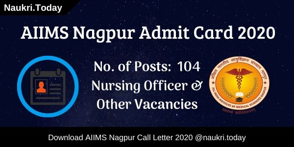 AIIMS Nagpur Admit Card