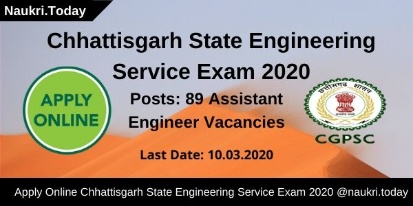 Chhattisgarh State Engineering Service Exam