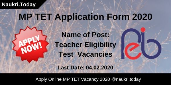 MP TET Application Form 2020