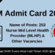 NHM Admit Card