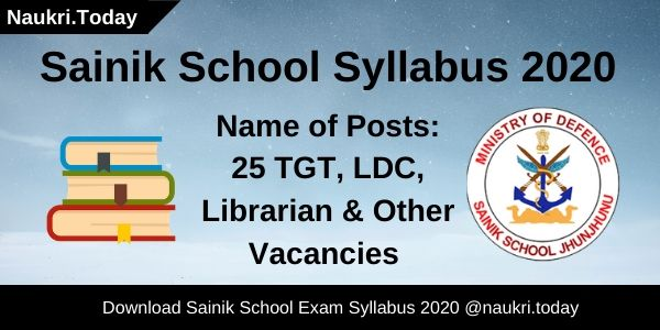 Sainik School Syllabus 2020