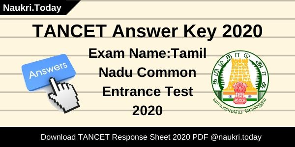 TANCET Answer Key