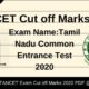 TANCET Cut off Marks