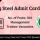 Vizag Steel Admit Card