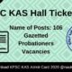 KPSC KAS Hall Ticket