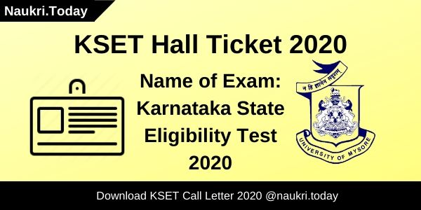 KSET Hall Ticket