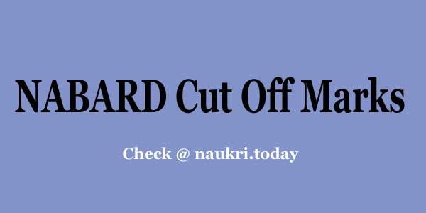 NABARD Cut Off Marks