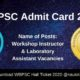 WBPSC Admit Card