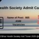 Bihar Health Society Admit Card 2020
