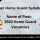 Rajasthan Home Guard Syllabus