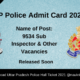 UP Police Admit Card 2021