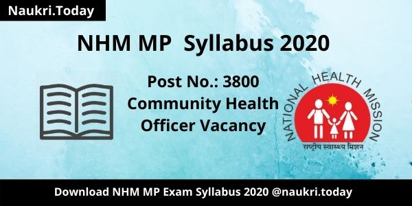 NHM MP Syllabus