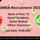 PGIMER Recruitment 2021