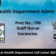 Gujarat Health Department Admit Card