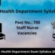 Gujarat Health Department Syllabus