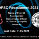 OPSC Recruitment 2021