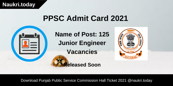PPSC Admit Card 2021