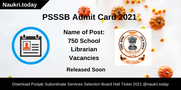 PSSSB Admit Card 2021
