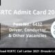 RSRTC Admit Card